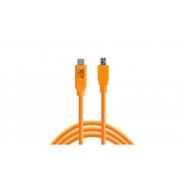 TETHER TOOLS TetherPro USB-C/2.0 Mini-B 8-Pin 4.6m Orange kabel do tetheringu