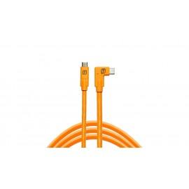 TETHER TOOLS TetherPro USB-C/ USB-C Right Angle 4.6m Orange kabel do tetheringu