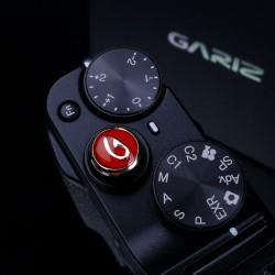 Soft button Gariz czerwony i czarny